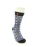 FOOL'S DAY Skull Dots Blue Athletic Socks