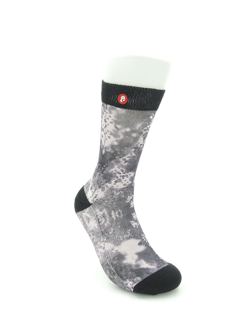 Mens Spray Drip Mono Cool Crew Socks