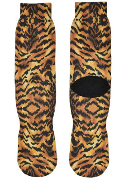 FOOL'S DAY Tiger Yellow Athletic Socks
