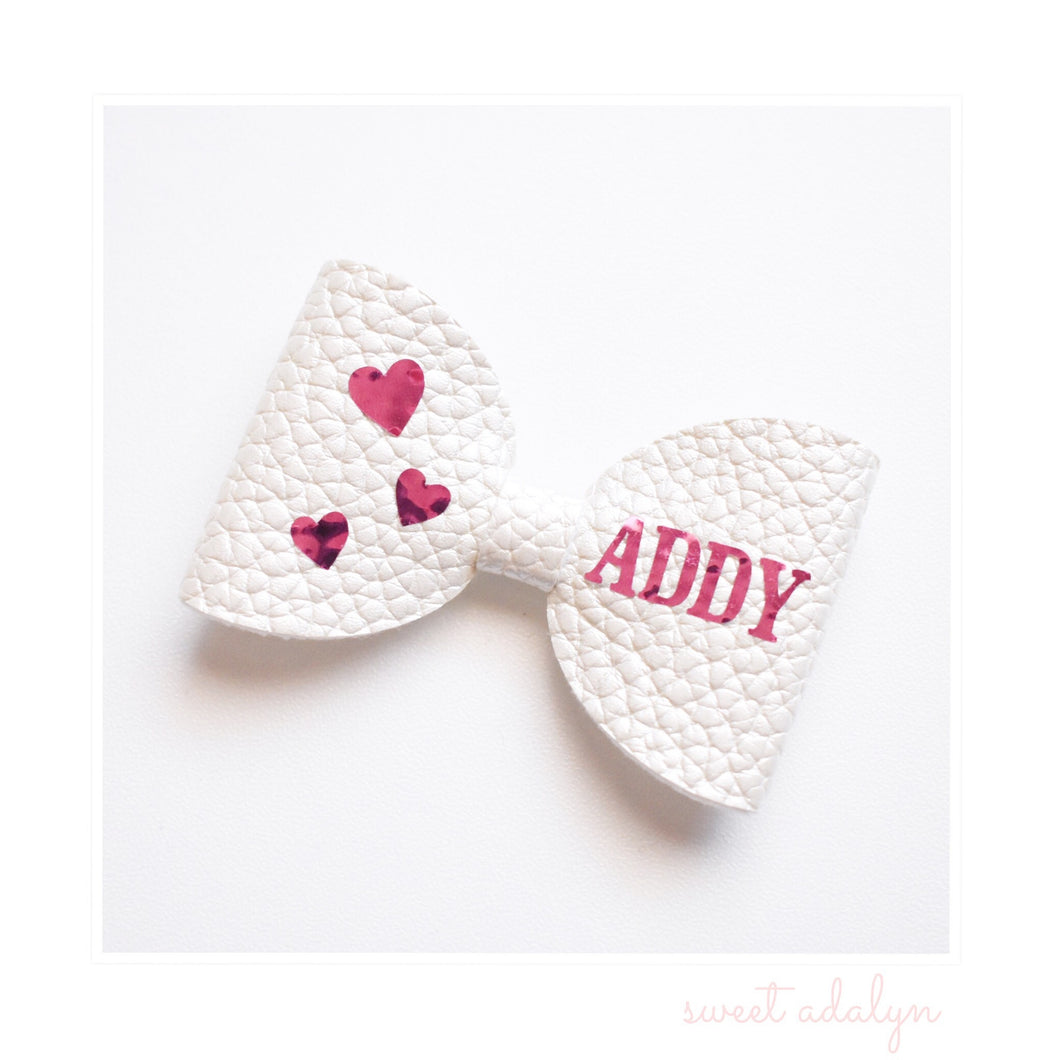Personalised Bow- Hearts