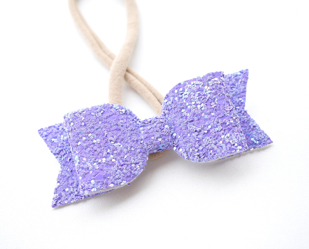 Purple Glitter Bow glitter bow, leatherette bow, fringe clip, butterfly bow, personalised bow, rainbow bow, dolly hair bow, floral bow, shimmer bow, pretty bow , Bow Handmade Hairbow, handmade hair accessories, Sweet Adalyn Sweet Adalyn