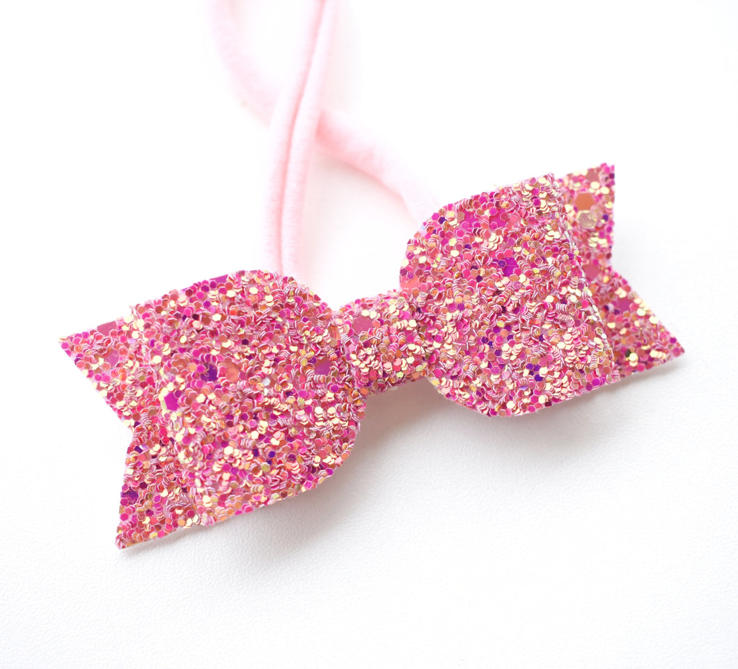 Pink Glitter Bow glitter bow, leatherette bow, fringe clip, butterfly bow, personalised bow, rainbow bow, dolly hair bow, floral bow, shimmer bow, pretty bow , Bow Handmade Hairbow, handmade hair accessories, Sweet Adalyn Sweet Adalyn