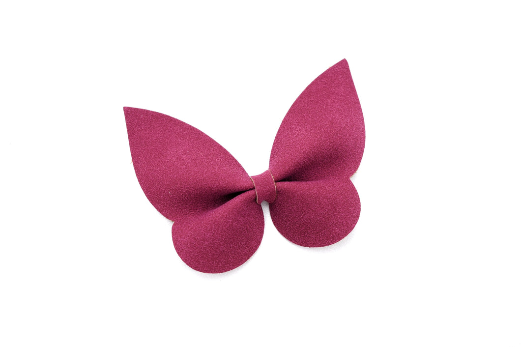 Holly- Burgundy Suede glitter bow, leatherette bow, fringe clip, butterfly bow, personalised bow, rainbow bow, dolly hair bow, floral bow, shimmer bow, pretty bow , Bow Handmade Hairbow, handmade hair accessories, Sweet Adalyn Sweet Adalyn