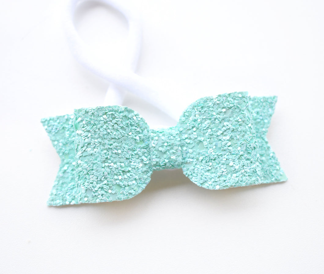 Green Glitter Bow glitter bow, leatherette bow, fringe clip, butterfly bow, personalised bow, rainbow bow, dolly hair bow, floral bow, shimmer bow, pretty bow , Bow Handmade Hairbow, handmade hair accessories, Sweet Adalyn Sweet Adalyn