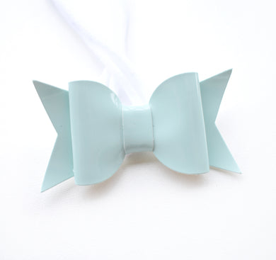 Light Aqua Bow glitter bow, leatherette bow, fringe clip, butterfly bow, personalised bow, rainbow bow, dolly hair bow, floral bow, shimmer bow, pretty bow , Bow Handmade Hairbow, handmade hair accessories, Sweet Adalyn Sweet Adalyn