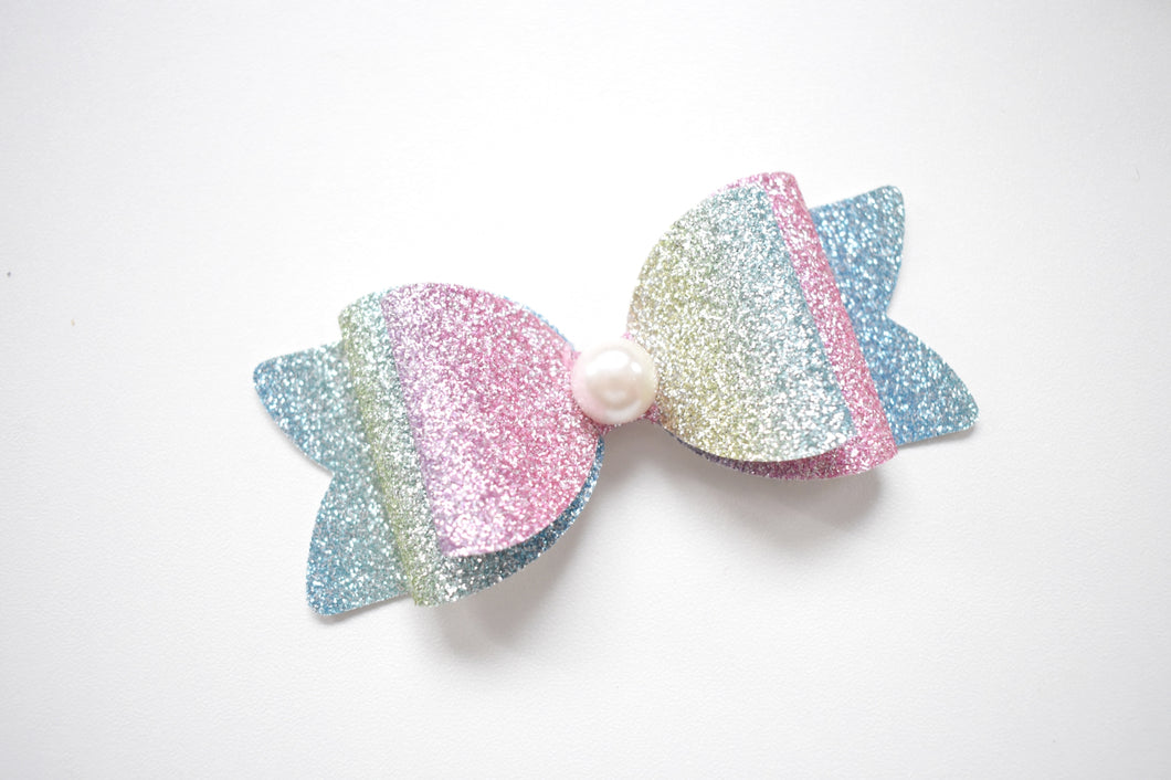 Brontee glitter bow, leatherette bow, fringe clip, butterfly bow, personalised bow, rainbow bow, dolly hair bow, floral bow, shimmer bow, pretty bow , Bow Handmade Hairbow, handmade hair accessories, Sweet Adalyn Sweet Adalyn