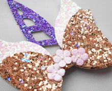 Unicorn- Gold/Purple glitter bow, leatherette bow, fringe clip, butterfly bow, personalised bow, rainbow bow, dolly hair bow, floral bow, shimmer bow, pretty bow , Bow Handmade Hairbow, handmade hair accessories, Sweet Adalyn Sweet Adalyn