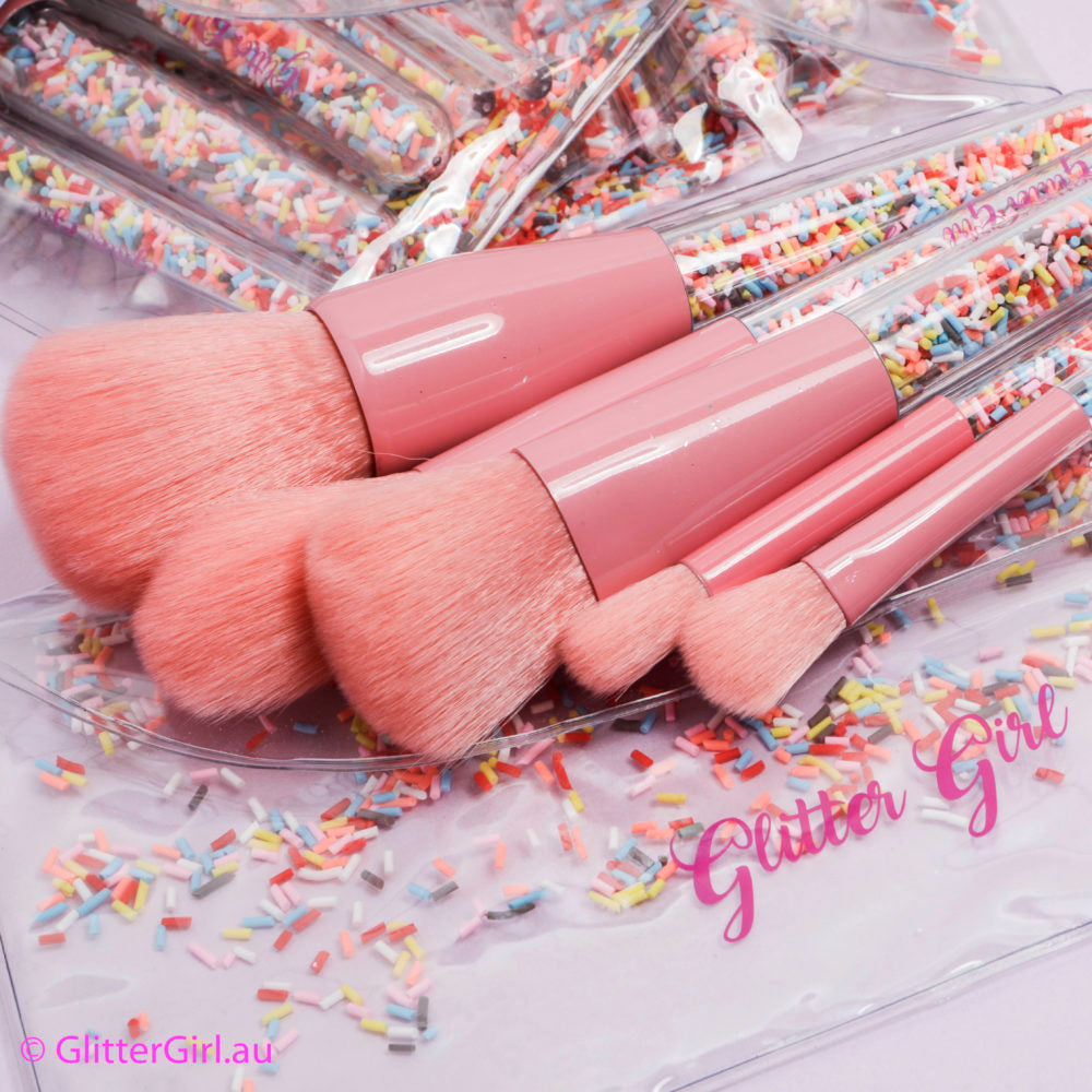 The Original Unicorn Sprinkle Makeup Brush Set glitter bow, leatherette bow, fringe clip, butterfly bow, personalised bow, rainbow bow, dolly hair bow, floral bow, shimmer bow, pretty bow , Makeup Handmade Hairbow, handmade hair accessories, Sweet Adalyn Sweet Adalyn