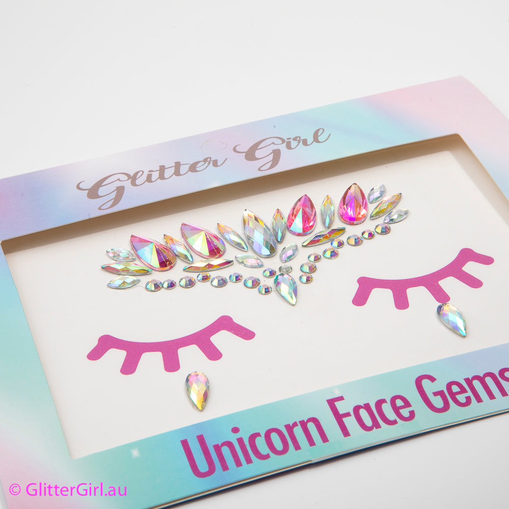 Unicorn Face Gems – Snowflake glitter bow, leatherette bow, fringe clip, butterfly bow, personalised bow, rainbow bow, dolly hair bow, floral bow, shimmer bow, pretty bow , Makeup Handmade Hairbow, handmade hair accessories, Sweet Adalyn Sweet Adalyn
