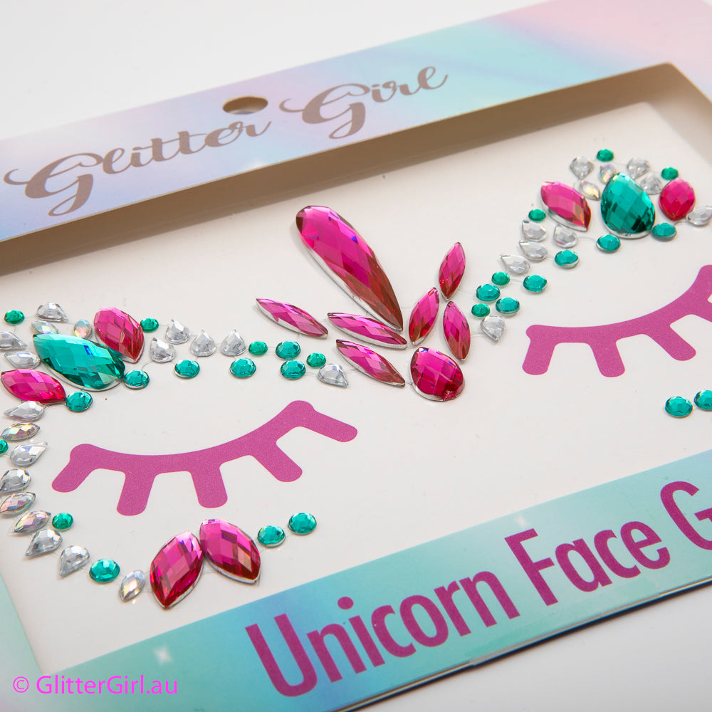 Unicorn Face Gems – Unicorn Power glitter bow, leatherette bow, fringe clip, butterfly bow, personalised bow, rainbow bow, dolly hair bow, floral bow, shimmer bow, pretty bow , Makeup Handmade Hairbow, handmade hair accessories, Sweet Adalyn Sweet Adalyn