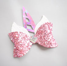 Unicorn- Pink glitter bow, leatherette bow, fringe clip, butterfly bow, personalised bow, rainbow bow, dolly hair bow, floral bow, shimmer bow, pretty bow , Bow Handmade Hairbow, handmade hair accessories, Sweet Adalyn Sweet Adalyn
