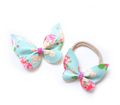 Dolly & Me- Holly Floral glitter bow, leatherette bow, fringe clip, butterfly bow, personalised bow, rainbow bow, dolly hair bow, floral bow, shimmer bow, pretty bow , Bow Handmade Hairbow, handmade hair accessories, Sweet Adalyn Sweet Adalyn