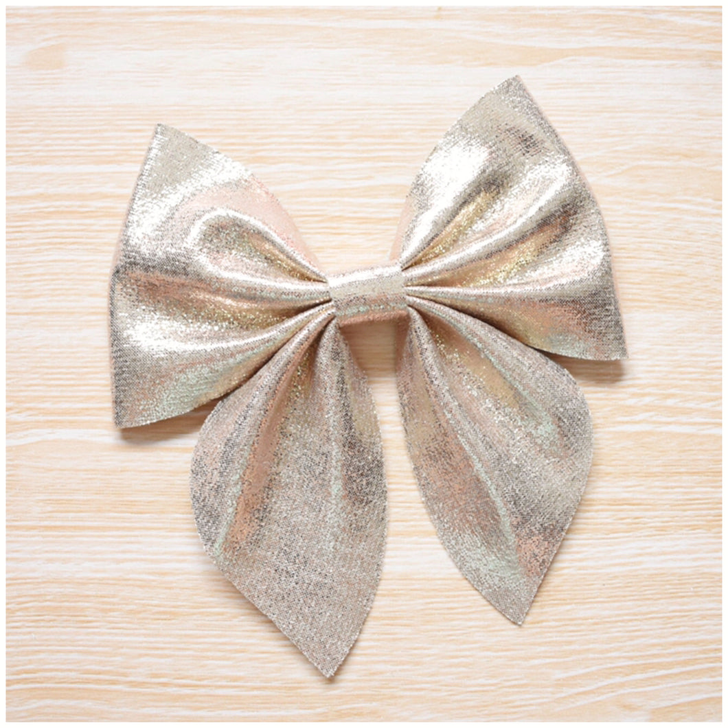 Sailor- Metallic Gold glitter bow, leatherette bow, fringe clip, butterfly bow, personalised bow, rainbow bow, dolly hair bow, floral bow, shimmer bow, pretty bow , Bow Handmade Hairbow, handmade hair accessories, Sweet Adalyn Sweet Adalyn