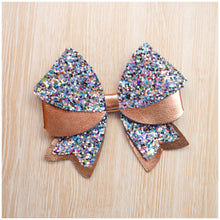 Annie- Bronze glitter bow, leatherette bow, fringe clip, butterfly bow, personalised bow, rainbow bow, dolly hair bow, floral bow, shimmer bow, pretty bow , Bow Handmade Hairbow, handmade hair accessories, Sweet Adalyn Sweet Adalyn