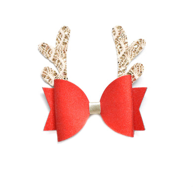 Red Reindeer Bow
