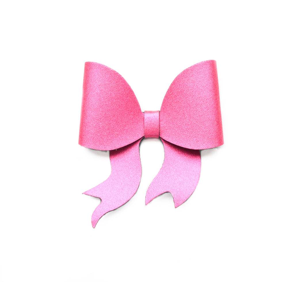 Lara- Hot Pink glitter bow, leatherette bow, fringe clip, butterfly bow, personalised bow, rainbow bow, dolly hair bow, floral bow, shimmer bow, pretty bow , Bow Handmade Hairbow, handmade hair accessories, Sweet Adalyn Sweet Adalyn
