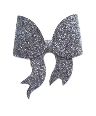 Lara- Grey glitter bow, leatherette bow, fringe clip, butterfly bow, personalised bow, rainbow bow, dolly hair bow, floral bow, shimmer bow, pretty bow , Bow Handmade Hairbow, handmade hair accessories, Sweet Adalyn Sweet Adalyn