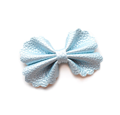 Iris- Pearl Blue glitter bow, leatherette bow, fringe clip, butterfly bow, personalised bow, rainbow bow, dolly hair bow, floral bow, shimmer bow, pretty bow , Bow Handmade Hairbow, handmade hair accessories, Sweet Adalyn Sweet Adalyn