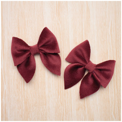 Sailor Mini- Maroon glitter bow, leatherette bow, fringe clip, butterfly bow, personalised bow, rainbow bow, dolly hair bow, floral bow, shimmer bow, pretty bow , Bow Handmade Hairbow, handmade hair accessories, Sweet Adalyn Sweet Adalyn