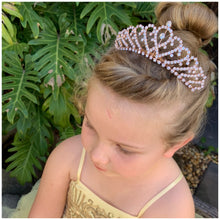Medium Tiara- Rose Gold glitter bow, leatherette bow, fringe clip, butterfly bow, personalised bow, rainbow bow, dolly hair bow, floral bow, shimmer bow, pretty bow , Accessory Handmade Hairbow, handmade hair accessories, Sweet Adalyn Sweet Adalyn