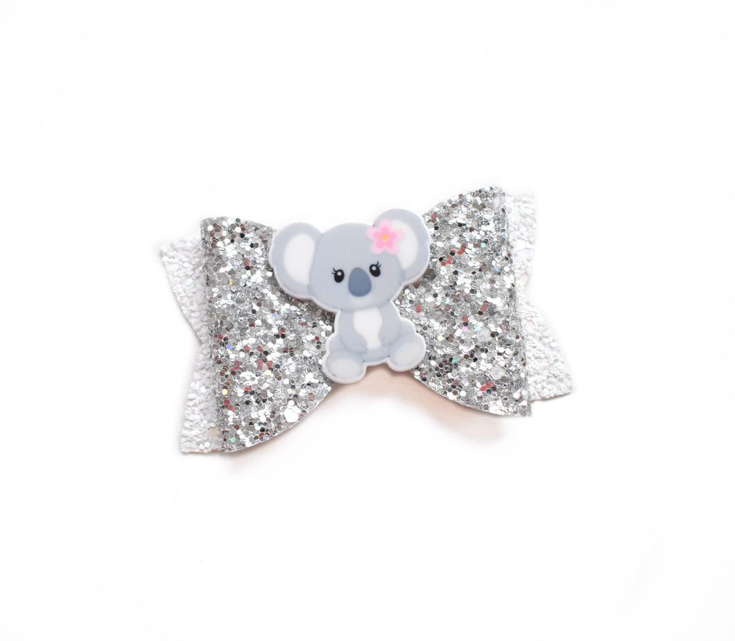 Koala glitter bow, leatherette bow, fringe clip, butterfly bow, personalised bow, rainbow bow, dolly hair bow, floral bow, shimmer bow, pretty bow , Bow Handmade Hairbow, handmade hair accessories, Sweet Adalyn Sweet Adalyn