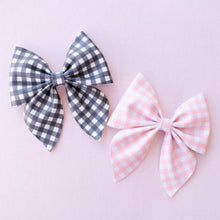 Sailor- Gingham glitter bow, leatherette bow, fringe clip, butterfly bow, personalised bow, rainbow bow, dolly hair bow, floral bow, shimmer bow, pretty bow , Bow Handmade Hairbow, handmade hair accessories, Sweet Adalyn Sweet Adalyn