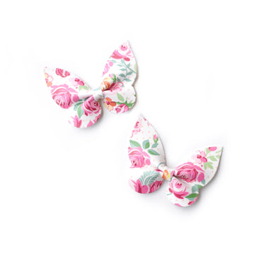 Holly PigTail Set- Floral glitter bow, leatherette bow, fringe clip, butterfly bow, personalised bow, rainbow bow, dolly hair bow, floral bow, shimmer bow, pretty bow , Bow Handmade Hairbow, handmade hair accessories, Sweet Adalyn Sweet Adalyn