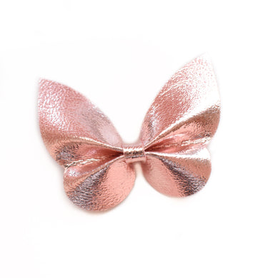 Holly- Rose Gold glitter bow, leatherette bow, fringe clip, butterfly bow, personalised bow, rainbow bow, dolly hair bow, floral bow, shimmer bow, pretty bow , Bow Handmade Hairbow, handmade hair accessories, Sweet Adalyn Sweet Adalyn