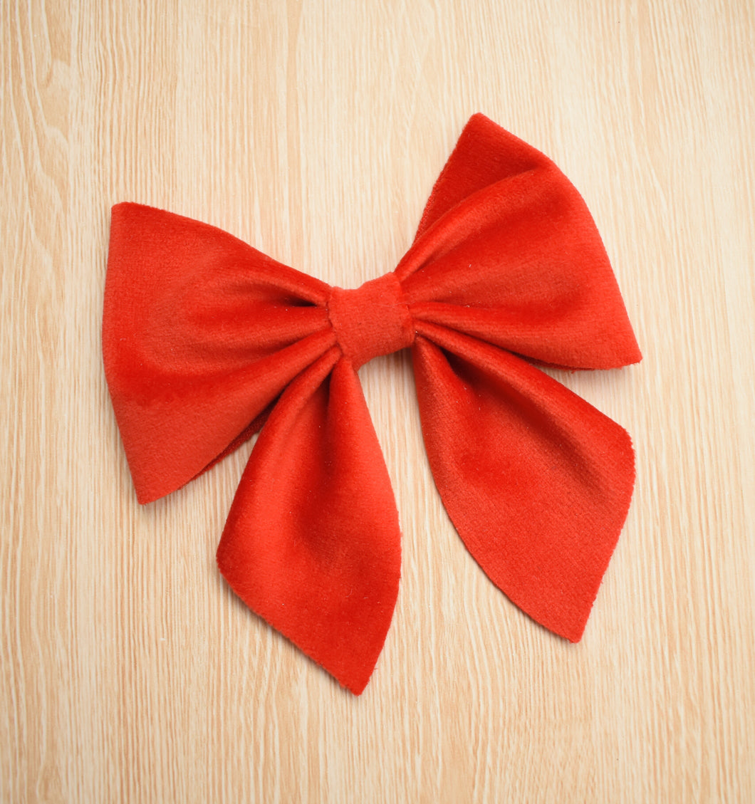 Sailor Bow- Red glitter bow, leatherette bow, fringe clip, butterfly bow, personalised bow, rainbow bow, dolly hair bow, floral bow, shimmer bow, pretty bow , Bow Handmade Hairbow, handmade hair accessories, Sweet Adalyn Sweet Adalyn