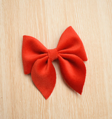 Sailor Bow Mini- Red glitter bow, leatherette bow, fringe clip, butterfly bow, personalised bow, rainbow bow, dolly hair bow, floral bow, shimmer bow, pretty bow , Bow Handmade Hairbow, handmade hair accessories, Sweet Adalyn Sweet Adalyn
