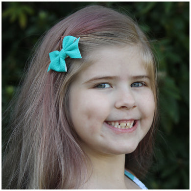 Addison- Teal glitter bow, leatherette bow, fringe clip, butterfly bow, personalised bow, rainbow bow, dolly hair bow, floral bow, shimmer bow, pretty bow , Bow Handmade Hairbow, handmade hair accessories, Sweet Adalyn Sweet Adalyn