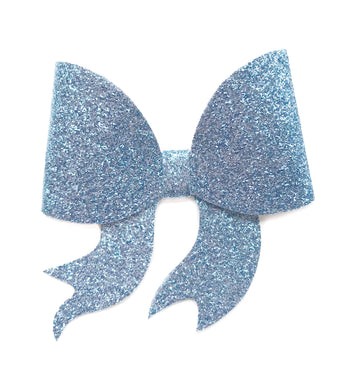 Lara- Pale Blue glitter bow, leatherette bow, fringe clip, butterfly bow, personalised bow, rainbow bow, dolly hair bow, floral bow, shimmer bow, pretty bow , Bow Handmade Hairbow, handmade hair accessories, Sweet Adalyn Sweet Adalyn