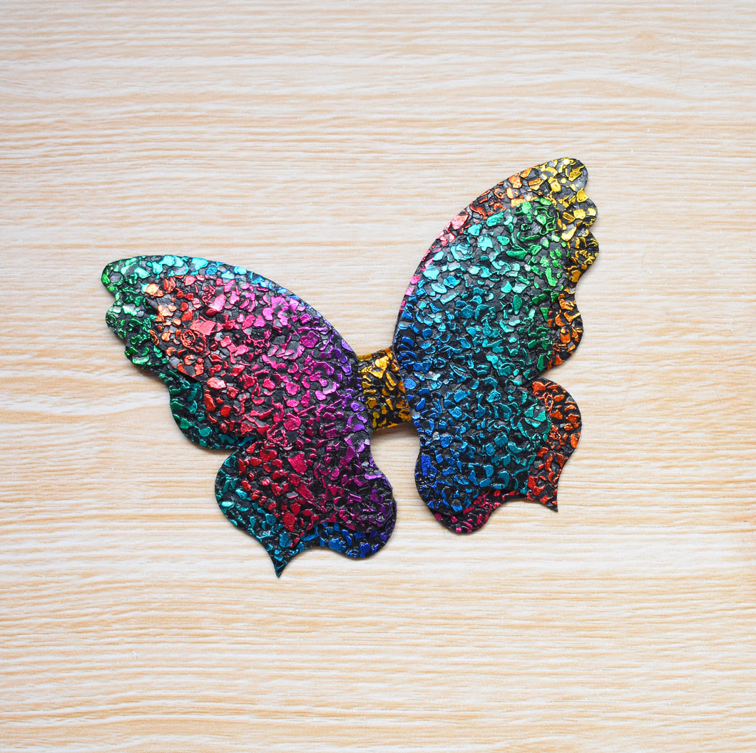 Freya- Rainbow Limited Edition glitter bow, leatherette bow, fringe clip, butterfly bow, personalised bow, rainbow bow, dolly hair bow, floral bow, shimmer bow, pretty bow , Bow Handmade Hairbow, handmade hair accessories, Sweet Adalyn Sweet Adalyn