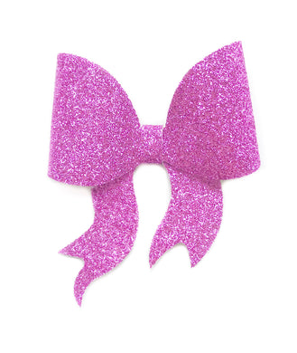 Lara- Pink glitter bow, leatherette bow, fringe clip, butterfly bow, personalised bow, rainbow bow, dolly hair bow, floral bow, shimmer bow, pretty bow , Bow Handmade Hairbow, handmade hair accessories, Sweet Adalyn Sweet Adalyn