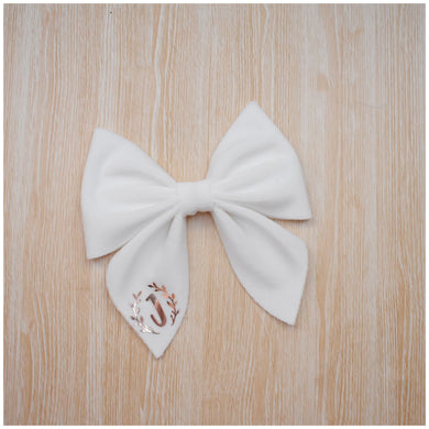 Sailor- White glitter bow, leatherette bow, fringe clip, butterfly bow, personalised bow, rainbow bow, dolly hair bow, floral bow, shimmer bow, pretty bow , Bow Handmade Hairbow, handmade hair accessories, Sweet Adalyn Sweet Adalyn