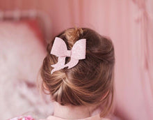 Lara- Nude Glitter glitter bow, leatherette bow, fringe clip, butterfly bow, personalised bow, rainbow bow, dolly hair bow, floral bow, shimmer bow, pretty bow , Bow Handmade Hairbow, handmade hair accessories, Sweet Adalyn Sweet Adalyn
