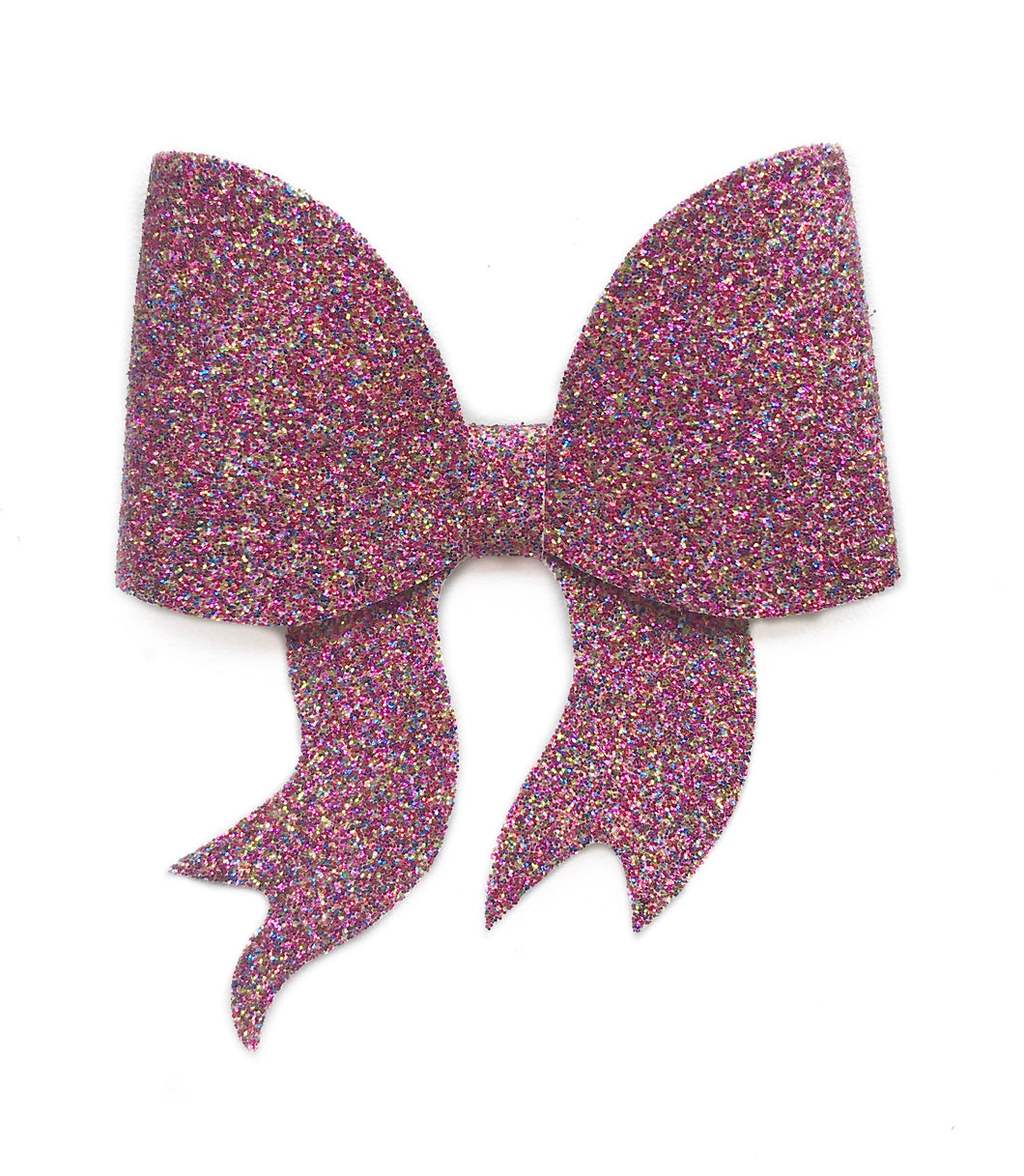 Lara- Pink Mixed glitter bow, leatherette bow, fringe clip, butterfly bow, personalised bow, rainbow bow, dolly hair bow, floral bow, shimmer bow, pretty bow , Bow Handmade Hairbow, handmade hair accessories, Sweet Adalyn Sweet Adalyn