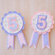 Birthday Badge glitter bow, leatherette bow, fringe clip, butterfly bow, personalised bow, rainbow bow, dolly hair bow, floral bow, shimmer bow, pretty bow , Birthday Badge Handmade Hairbow, handmade hair accessories, Sweet Adalyn Sweet Adalyn