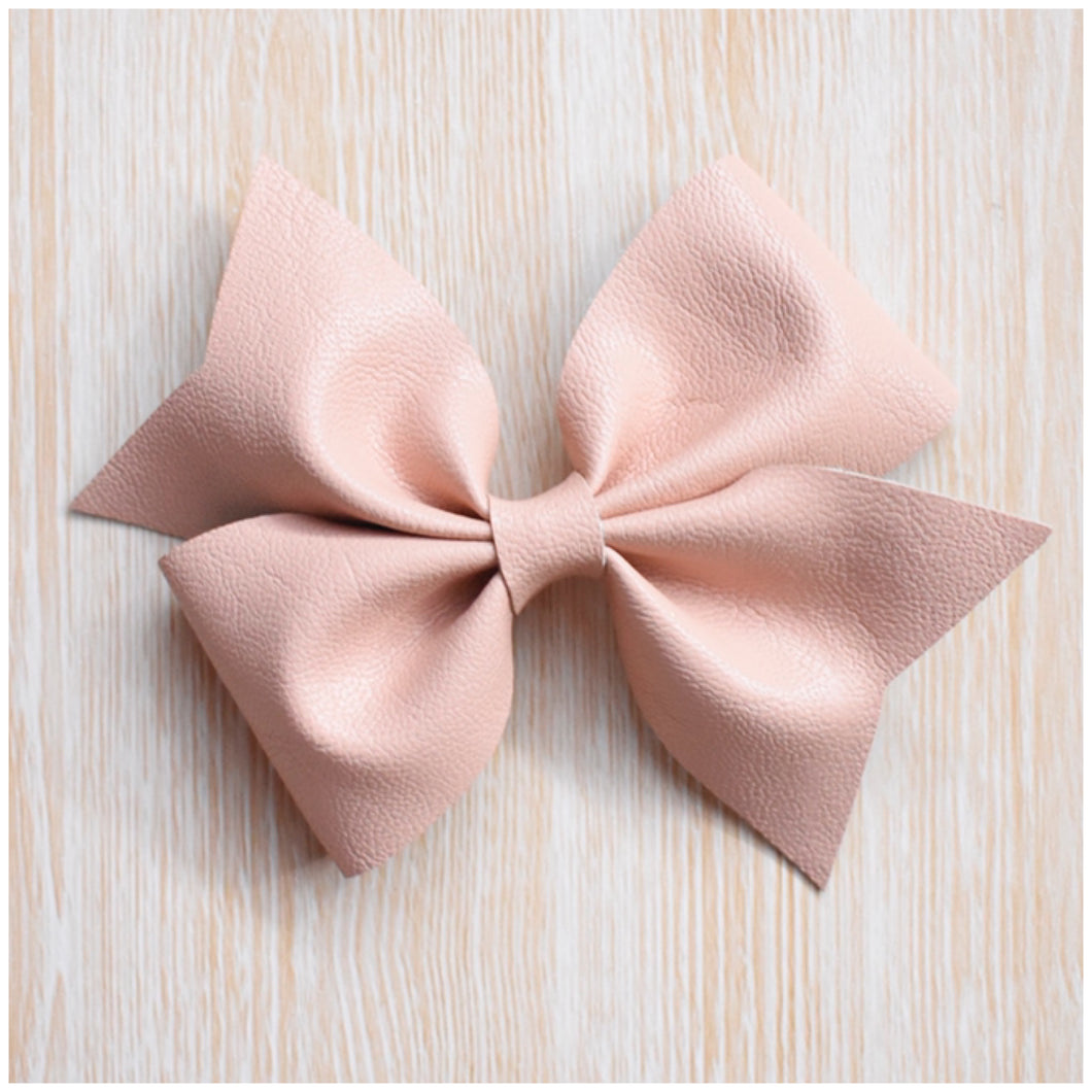 Addison- Ballerina Pink glitter bow, leatherette bow, fringe clip, butterfly bow, personalised bow, rainbow bow, dolly hair bow, floral bow, shimmer bow, pretty bow , Bow Handmade Hairbow, handmade hair accessories, Sweet Adalyn Sweet Adalyn