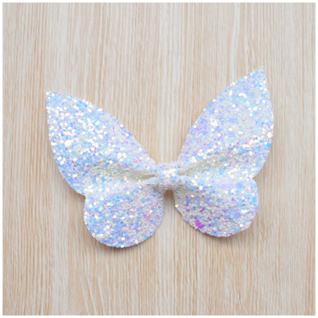 Holly- White Glitter glitter bow, leatherette bow, fringe clip, butterfly bow, personalised bow, rainbow bow, dolly hair bow, floral bow, shimmer bow, pretty bow , Bow Handmade Hairbow, handmade hair accessories, Sweet Adalyn Sweet Adalyn