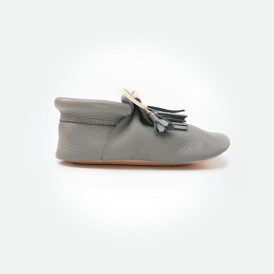 Chiru Moccasins - Fossil Grey - Pyopp Barefoot Shoes For Babies & Kids