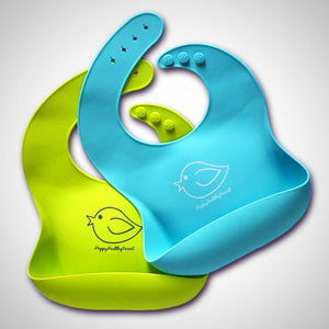 Colorful Waterproof Silicone Bib - orca care