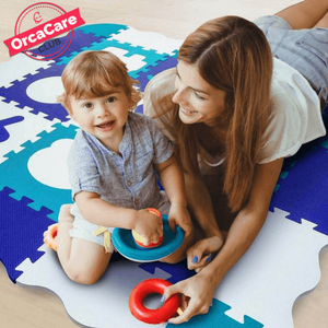 Collapsible Fence Edging Baby Play Mat - orca care