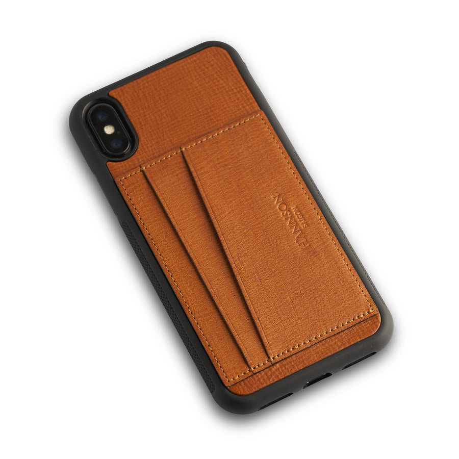 Card Holder Iphone Case Brown