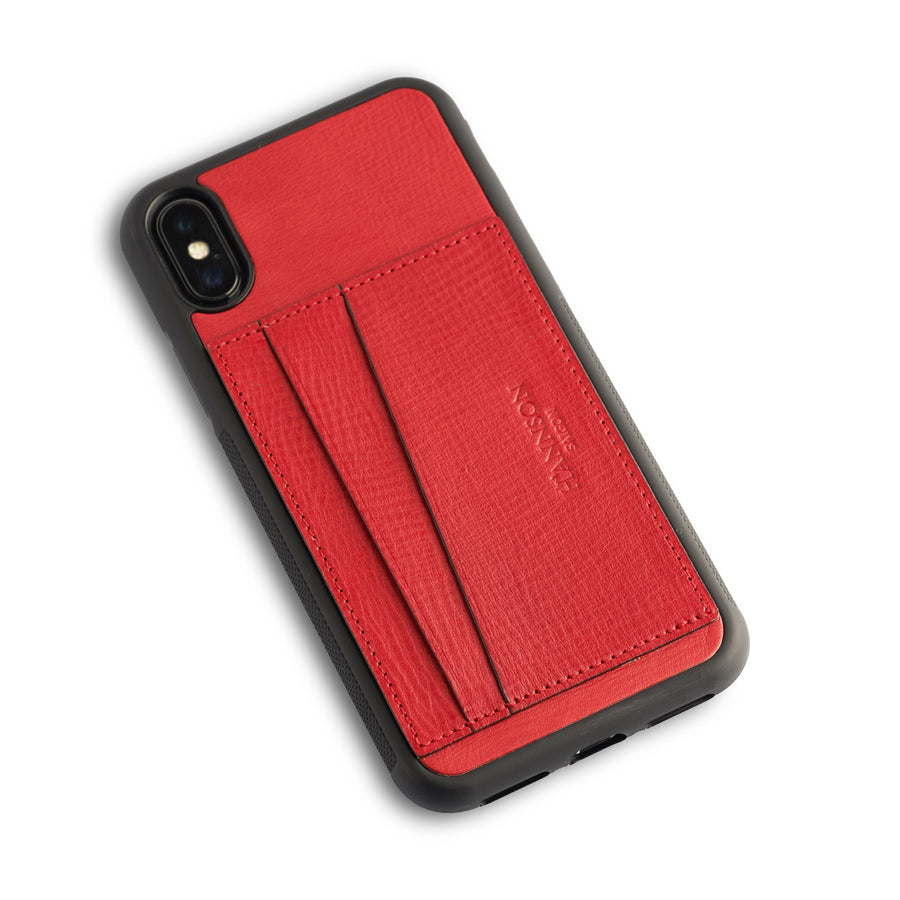 Card Holder Iphone Case Red
