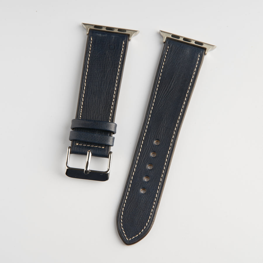Dây Apple Watch Classic-X Veg Navy chỉ Kem