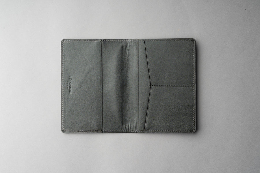 Passport Cover Veg Tan - Đen