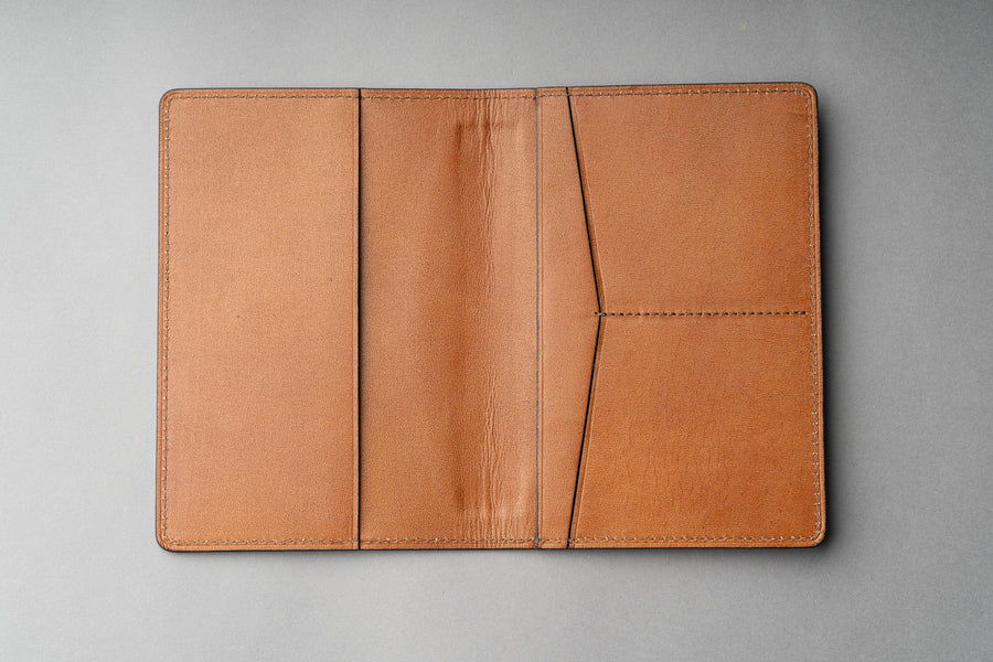 Passport Cover Veg Tan - Nâu