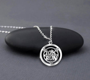 10K Marathon Run - Running Necklace