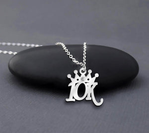 10K Running Necklace Sterling Silver Running Crown Necklace Gift For Runner